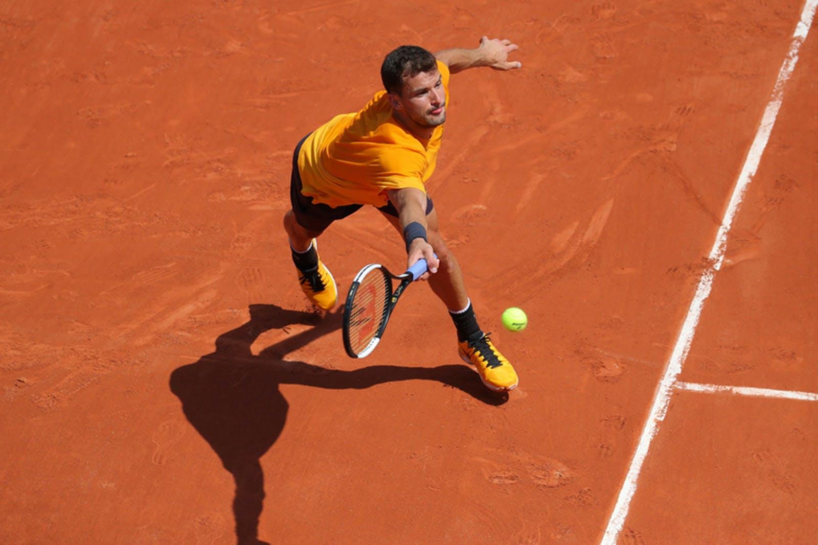 Gregor Dimitrov - Roland-Garros 2019 - entraînement