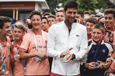 Roland-Garros 2018, Novak Djokovic, ballos