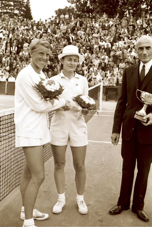 Nancy Richey Ann Haydon-Jones Roland-Garros 1968 Roger Cirotteau