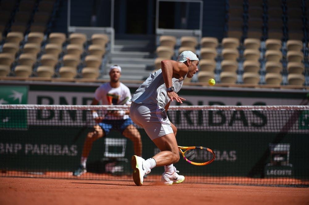 Rafael Nadal, Karen Khachanov, Roland Garros 2021, practice