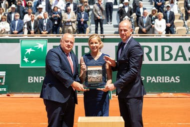 Bernard Giudicelli - Chris Evert - Guy Forget - 2019 -