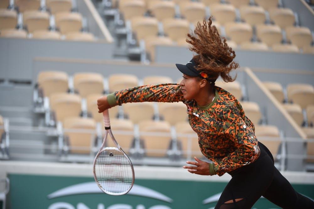 Naomi Osaka, Roland Garros 2021, practice