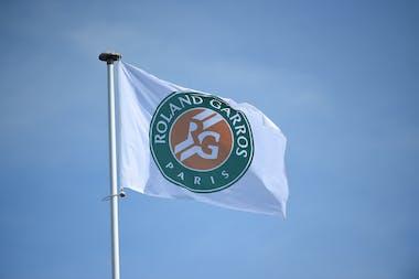 Roland-Garros logo on a flying flag