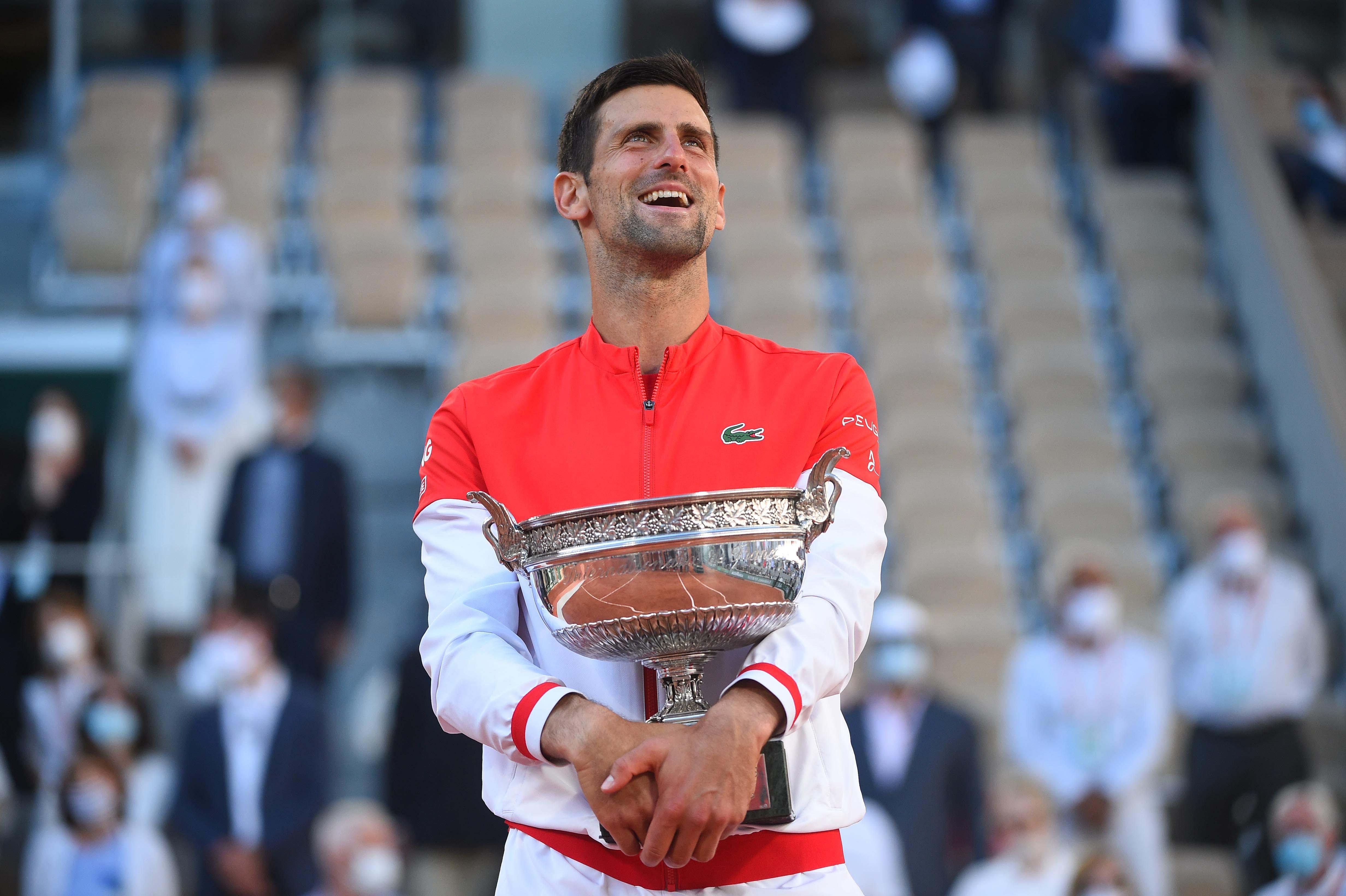 Novak Djokovic Roland-Garros 2021 smile