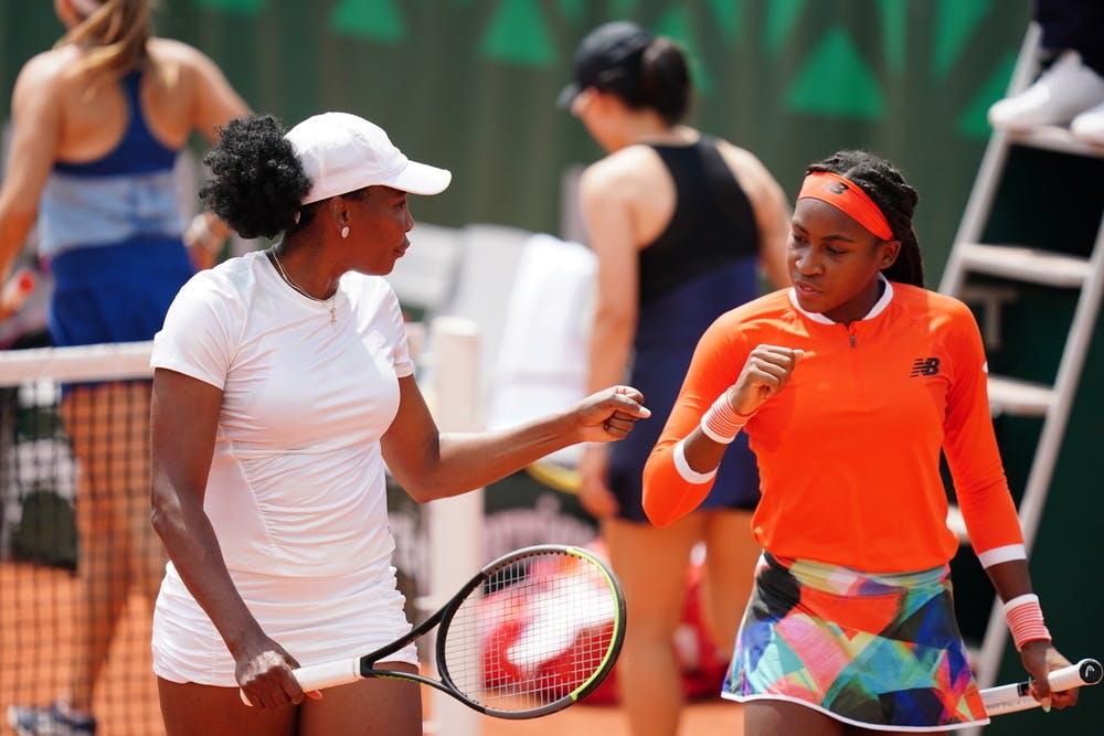 Venus Williams, Coco Gauff, Roland-Garros 2021 first round