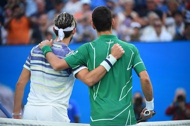 Dominic Thiem & Novak Djokovic at Australian Open 2020