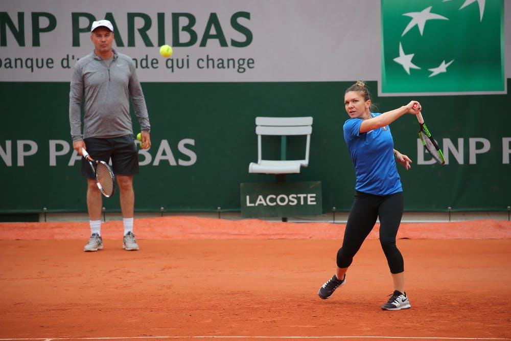 Simona Halep and Daniel Dobre