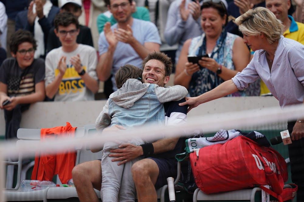Nicolas Mahut and son