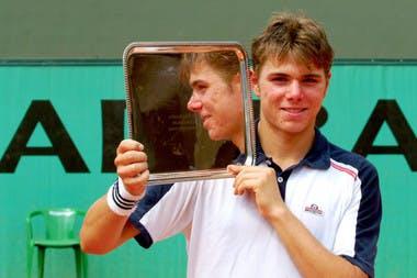 Stan Wawrinka vainqueur junior Roland-Garros 2003 boy's junior champ.