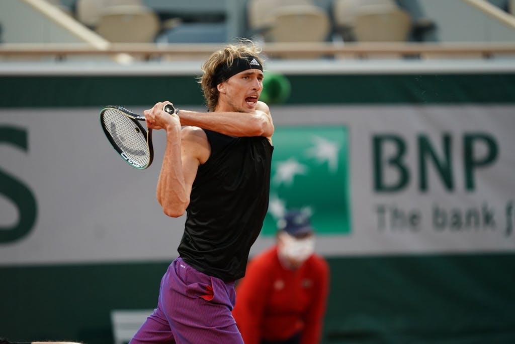 Alexander Zverev, Roland Garros 2021, fourth round