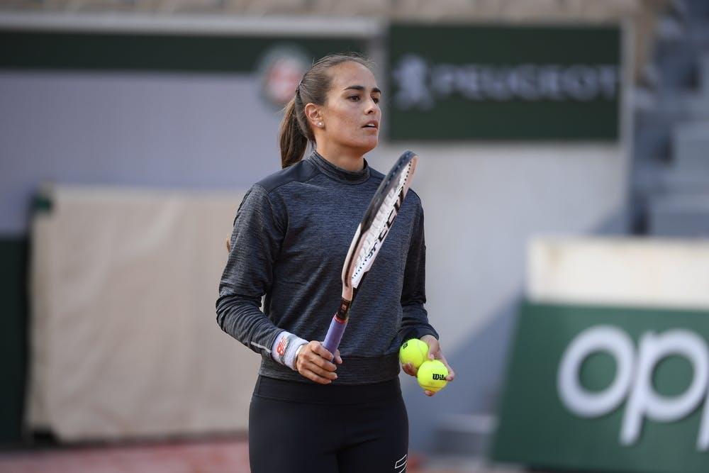 Monica Puig, Roland Garros 2020, practice