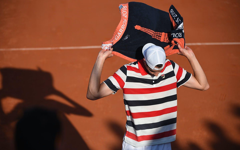 John Isner, Roland Garros 2018, Simple Messieurs, 2eme Tour