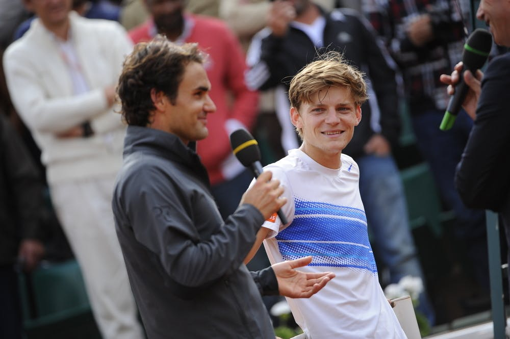 David Goffin and Roger Federer first meeting ever at Roland-Garros 2021
