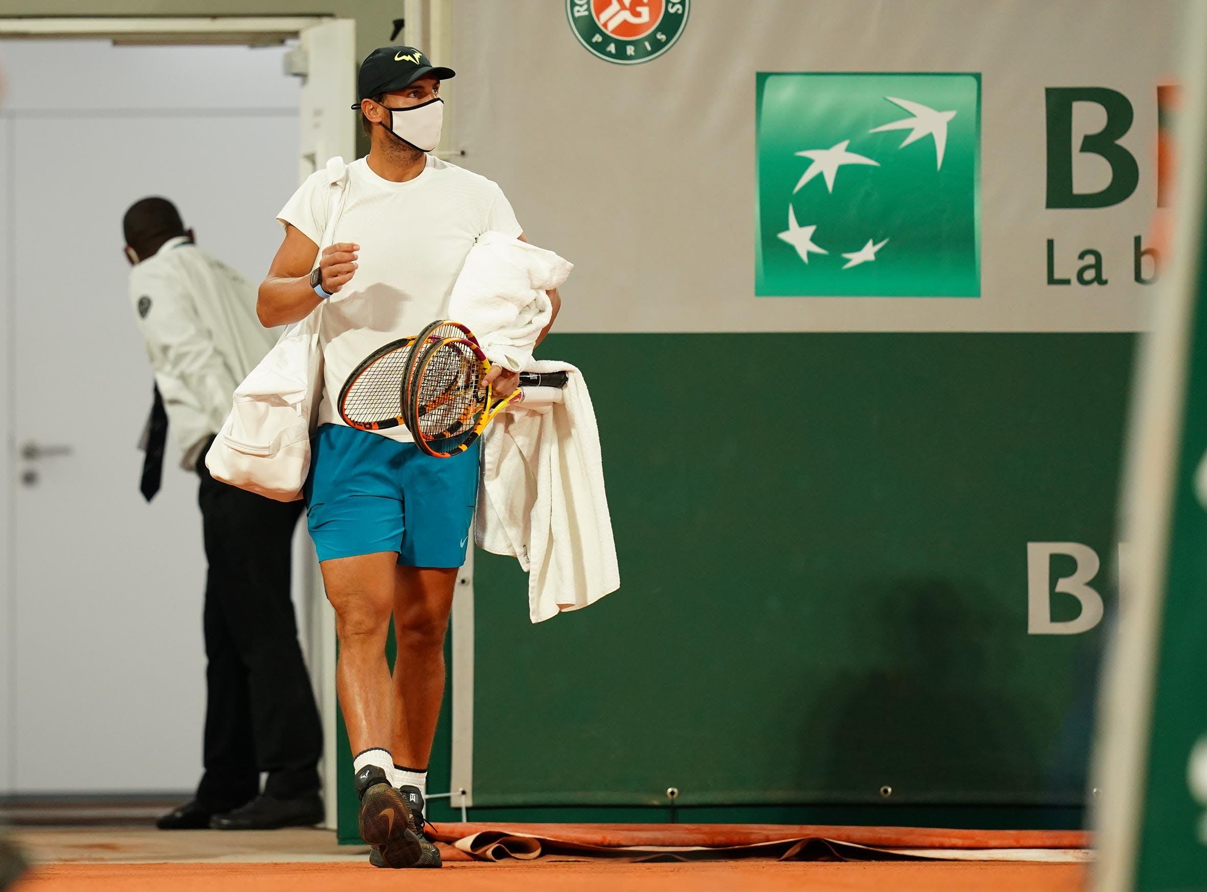 Rafael Nadal first day Roland-Garros 2020