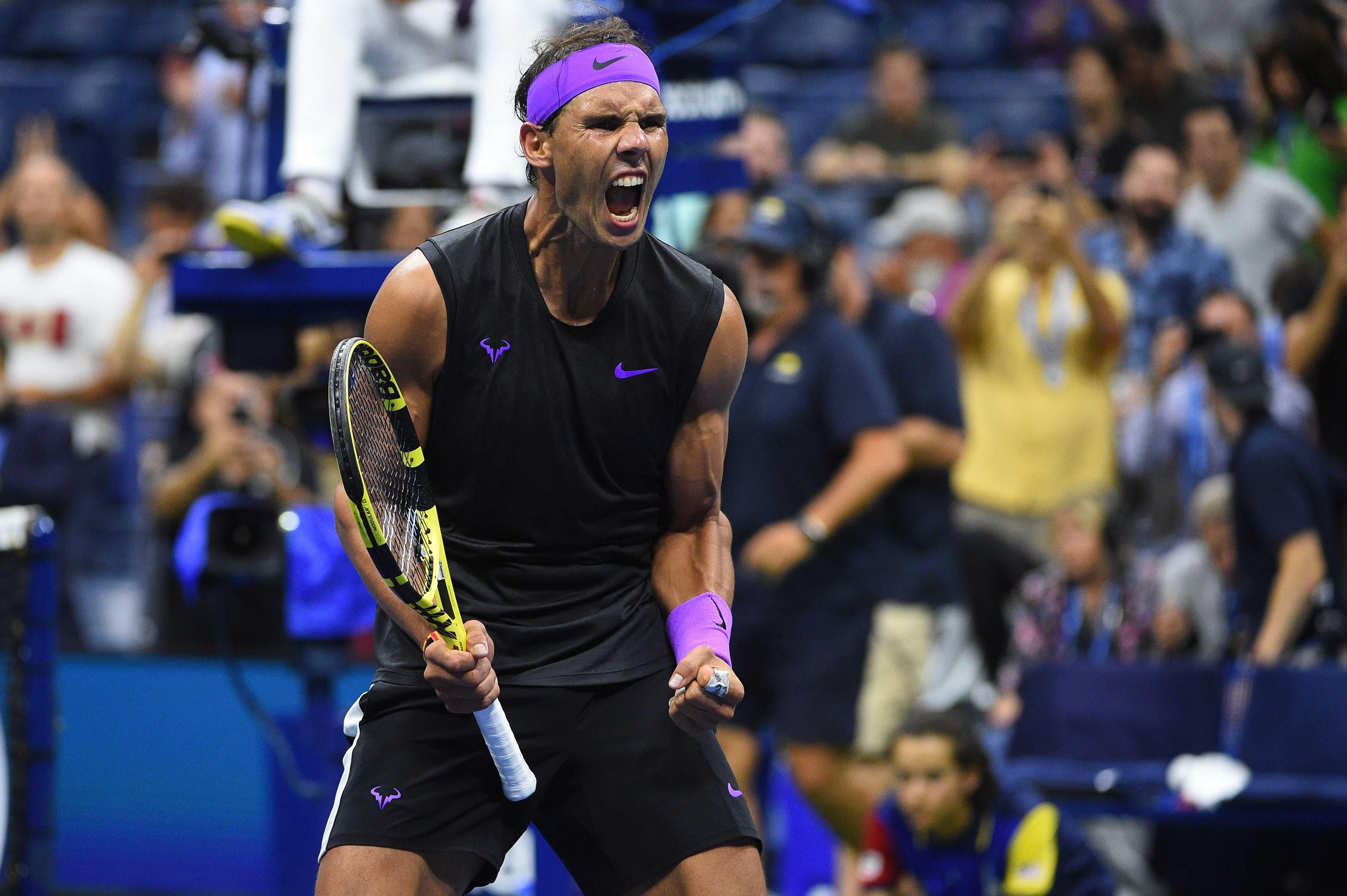 Hear Rafa Nadal roar during his quarterfinal at the 2019 US Open
