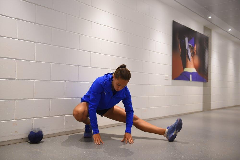 Diane Parry - échauffement Roland-Garros 2019