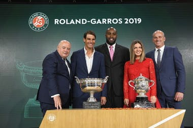 Bernard Giudicelli Rafael Nadal Simona Halep Teddy Riner Guy Forget