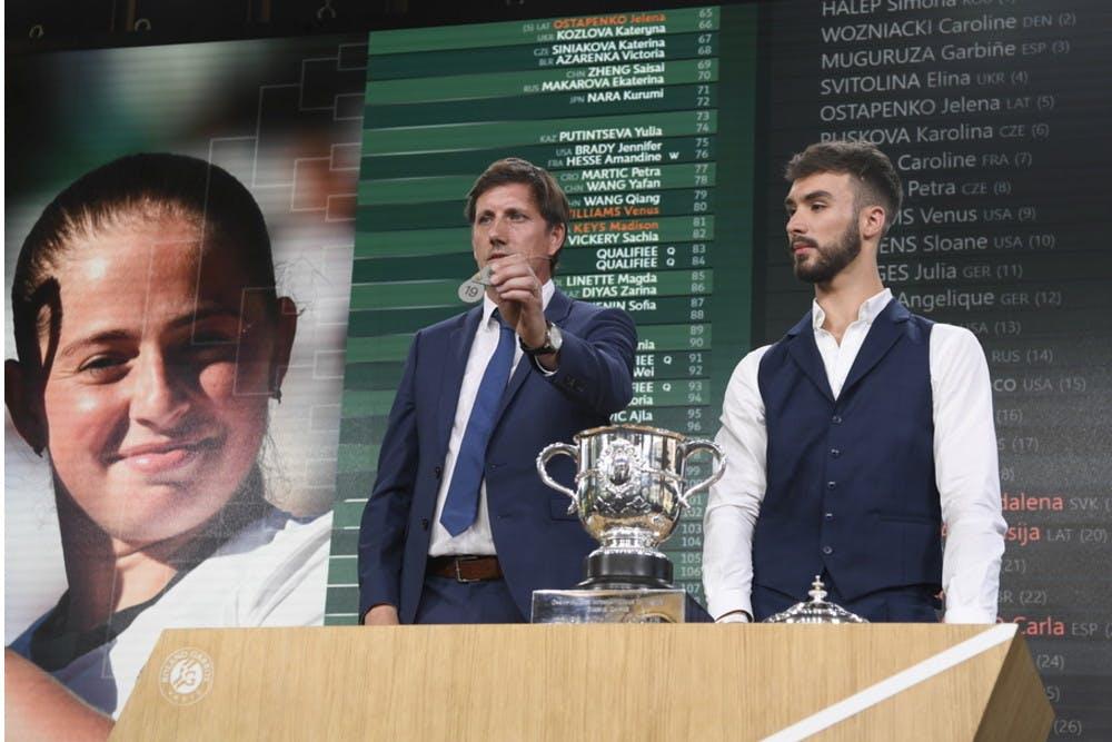 Roland-Garros 2018, tirage au sort