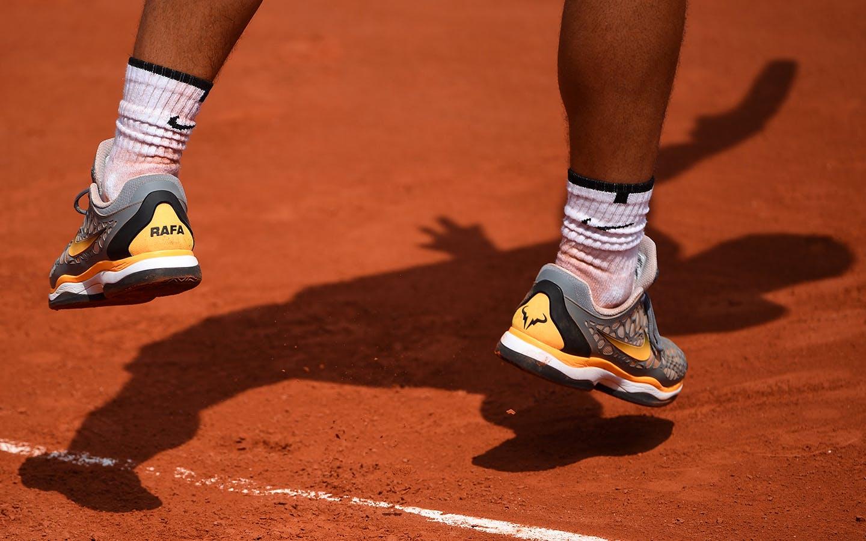Roland-Garros 2018, Rafael Nadal, entraînement, practice, chaussures, shoes