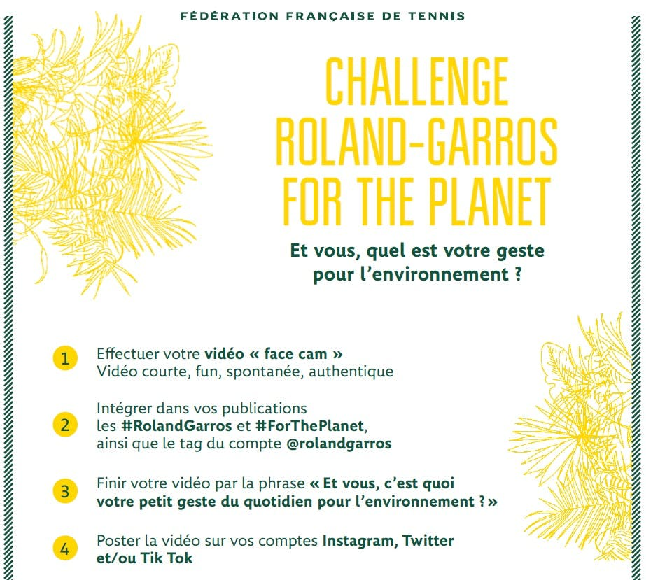 Challenge Roland-Garros for the planet !