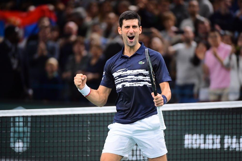 Novak Djokovic's victory at the Rolex Paris Masters 2019