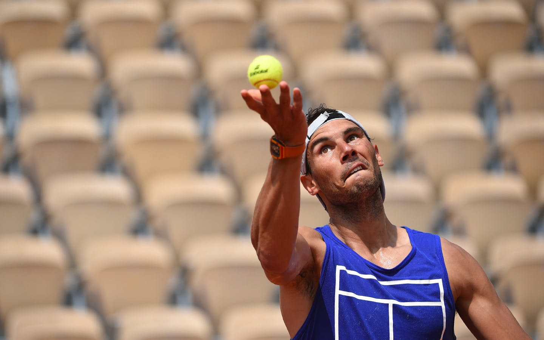 Roland-Garros 2018, Rafael Nadal, entraînement, practice