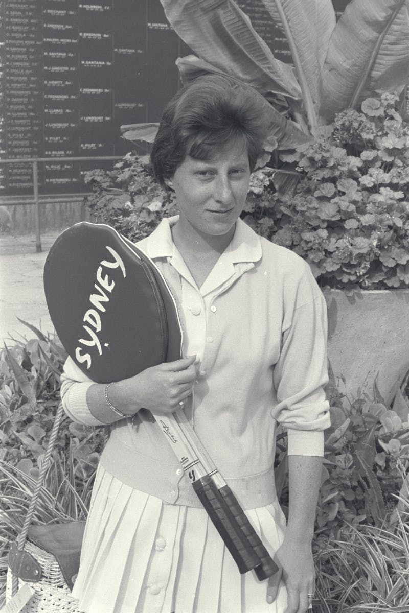 Françoise Dürr, National 1961 / Françoise Dürr French national Championship, 1961.