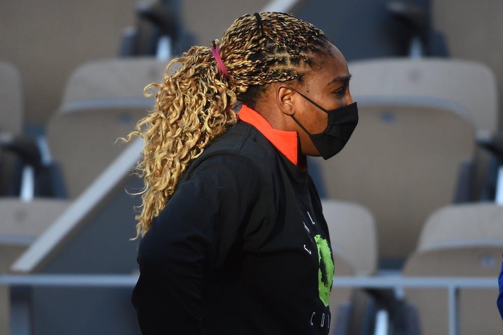 Serena Williams, Roland-Garros 2020, entraînement, court Philippe-Chatrier