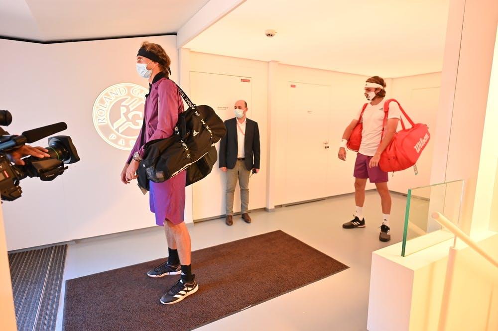 Alexander Zverev, Stefanos Tsitsipas, Roland-Garros 2021,