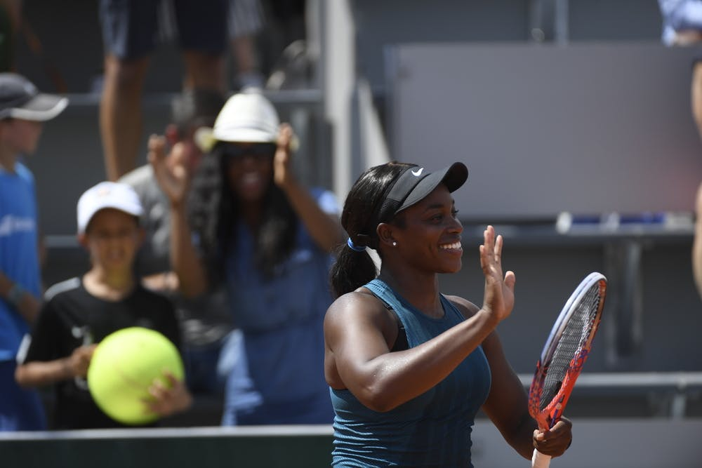 Sloane Stephens, Roland Garros 2018, Simple Dames, 1er Tour