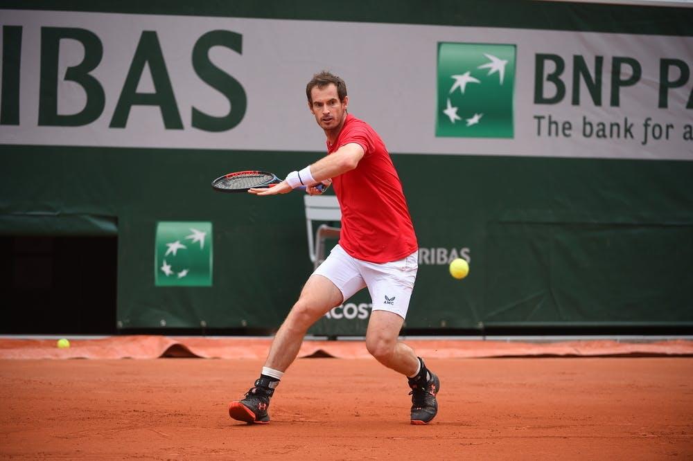 Andy Murray, Roland-Garros 2020, entraînement
