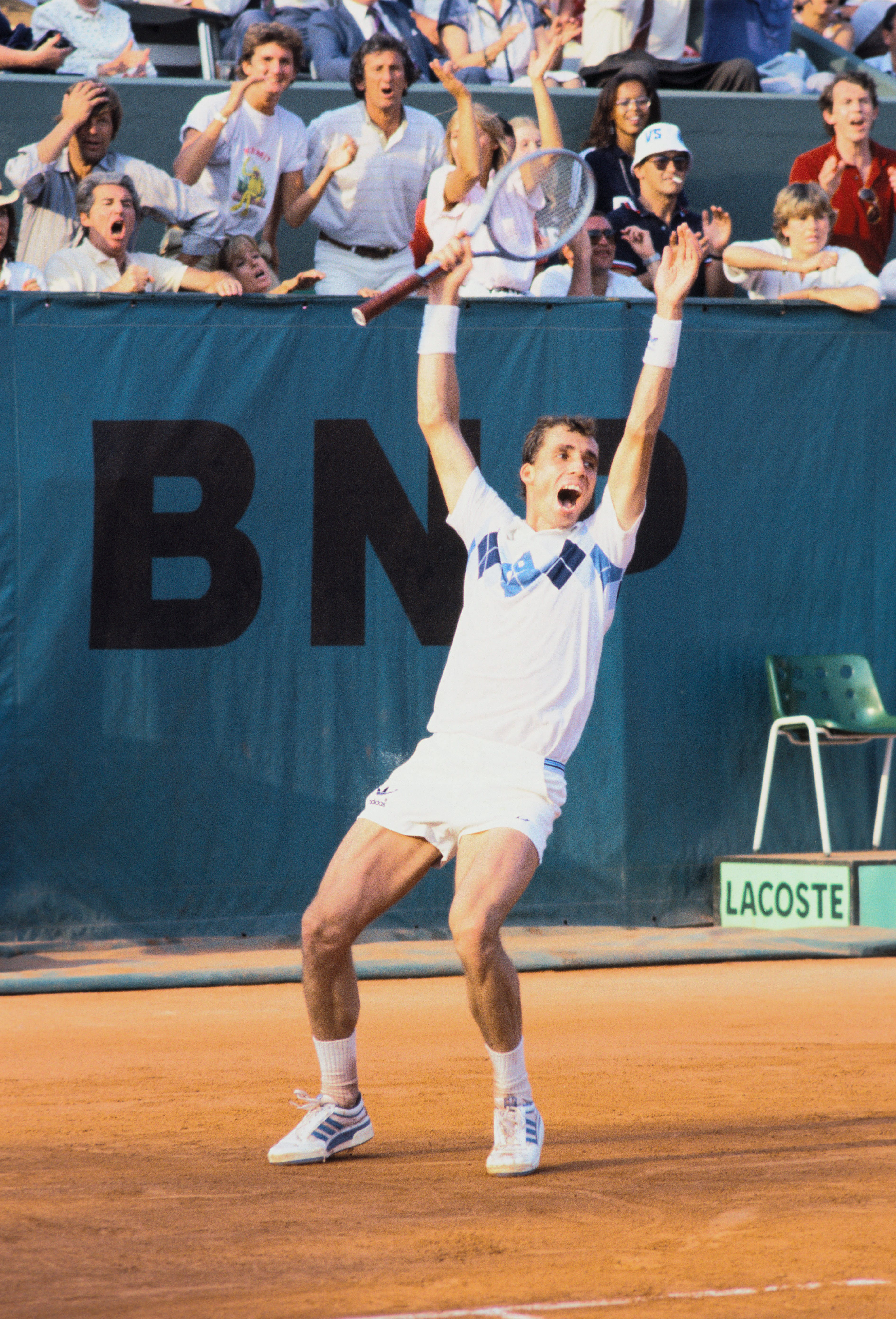 Ivan Lendl during the final at Roland-Garros 1984