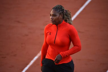 Serena Williams, Roland-Garros 2020, practice