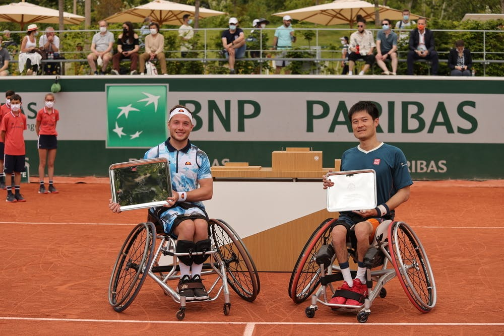 Alfie Hewett, Shingo Kunieda, Roland-Garros 2021, Tennis Fauteuil Simple Messieurs, Remise de Prix,