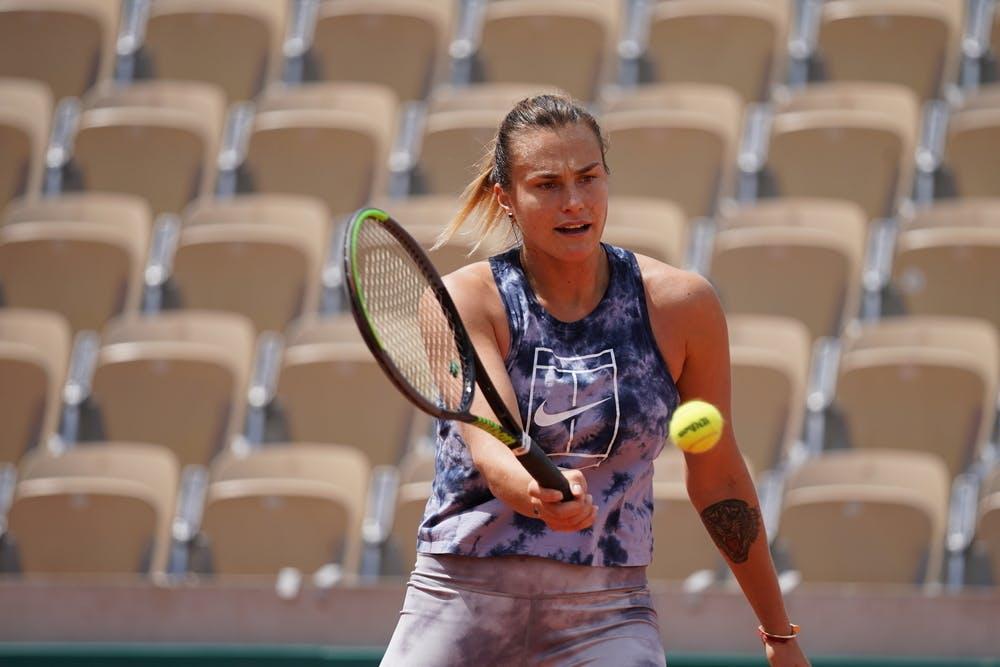 Aryna Sabalenka, Roland Garros 2021, practice