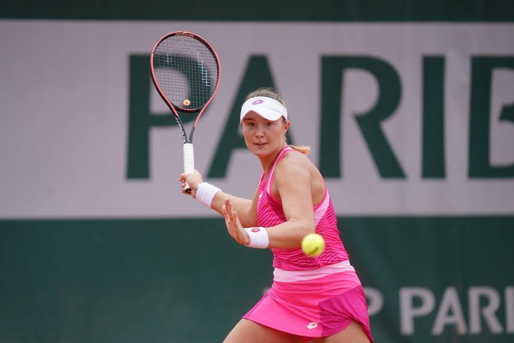 Alina Charaeva, Roland Garros 2020, quarter-finals