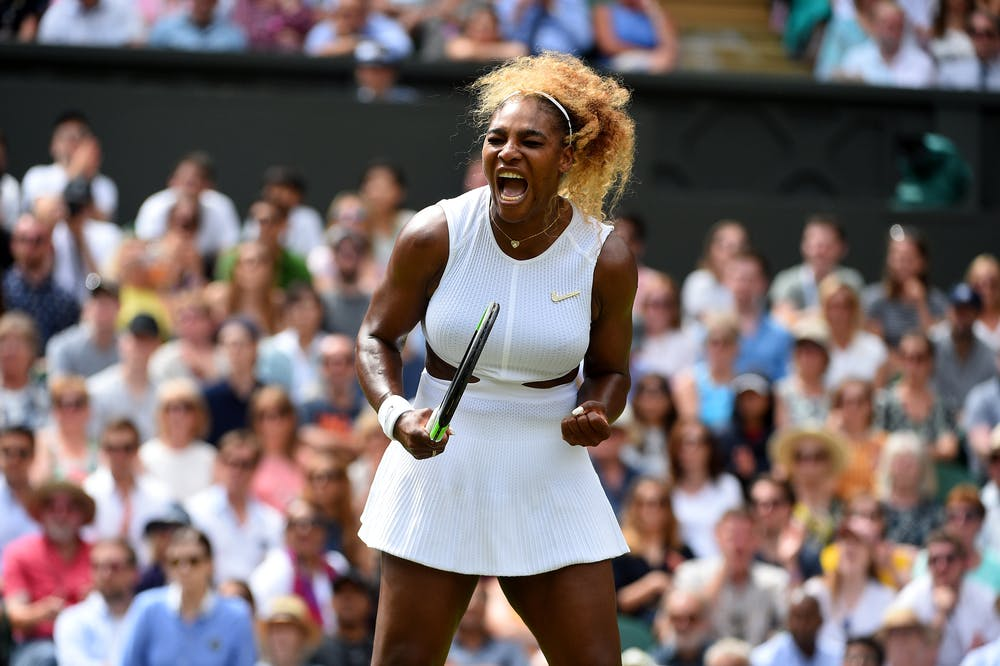 Scream from Serena Williams at Wimbledon 2019
