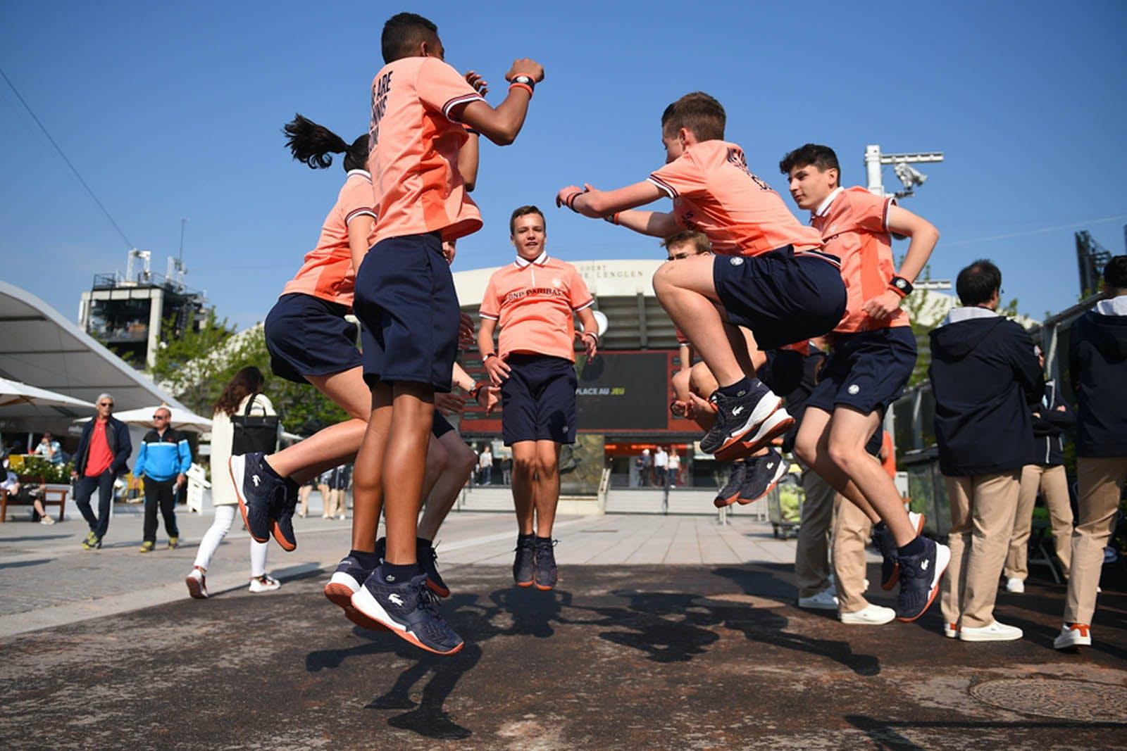 Ramasseurs de balles - Roland-Garros 2019 - Echauffement