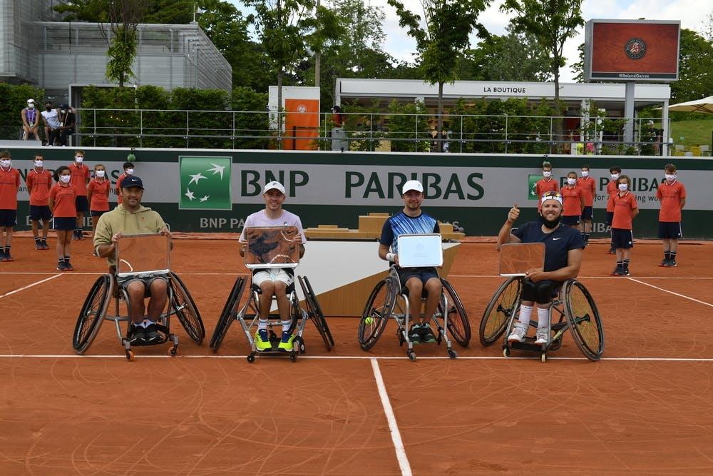 David Wagner, Andy Lapthorne, Sam Schroder, Dylan Alcott, Roland-Garros 2021, Quad Double Messieurs, Finale.