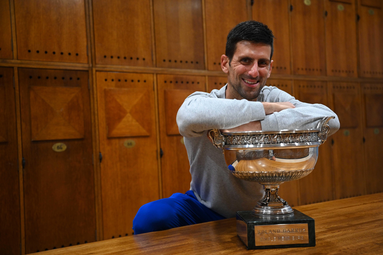 Novak Djokovic Roland-Garros 2021 vestiaire