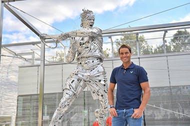 Rafael Nadal unveils his statue at Roland-Garros 2021