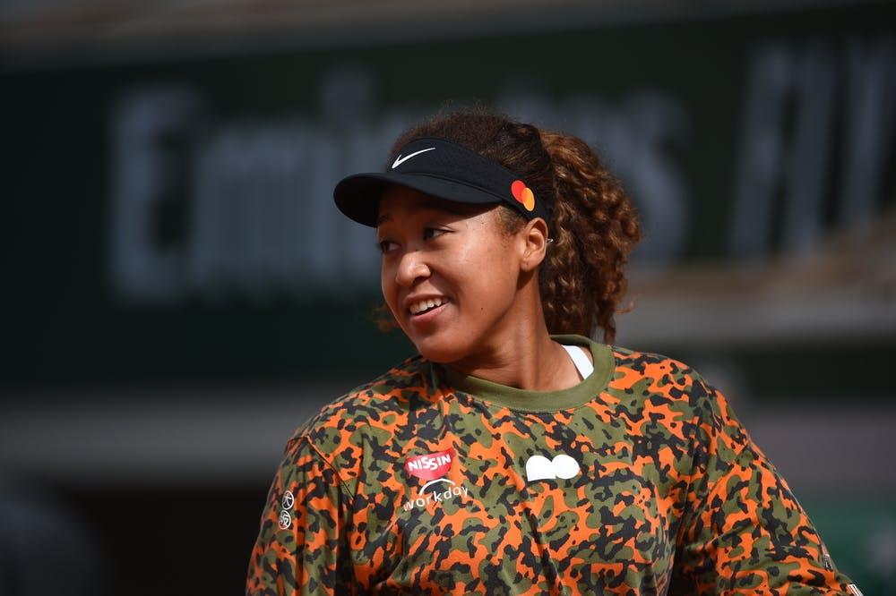 Naomi Osaka Roland Garros 2021 practice