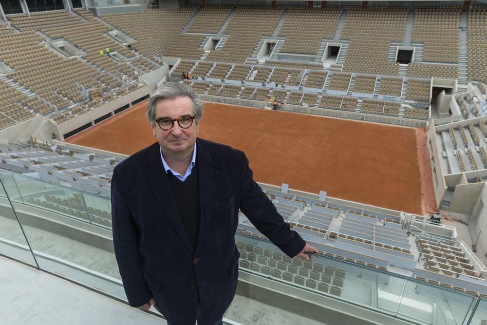 Jean-François Vilotte in the new Roland-Garros stadium