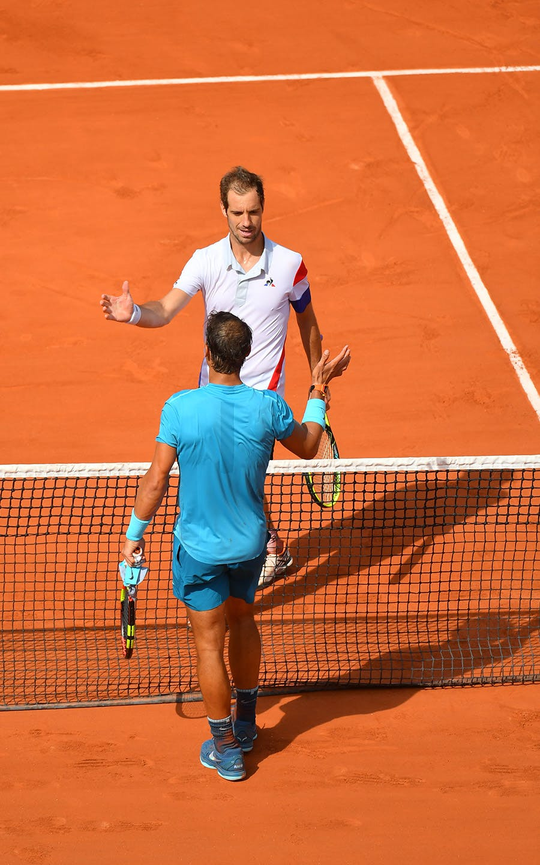 Rafael Nadal et Richard Gasquet, Roland Garros 2018, Simple Messieurs, 3eme Tour