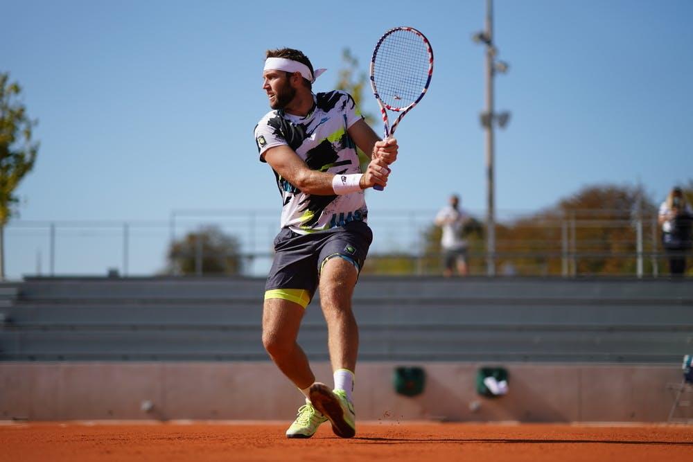 Jack Sock, Roland Garros 2020, Qualifying first round.