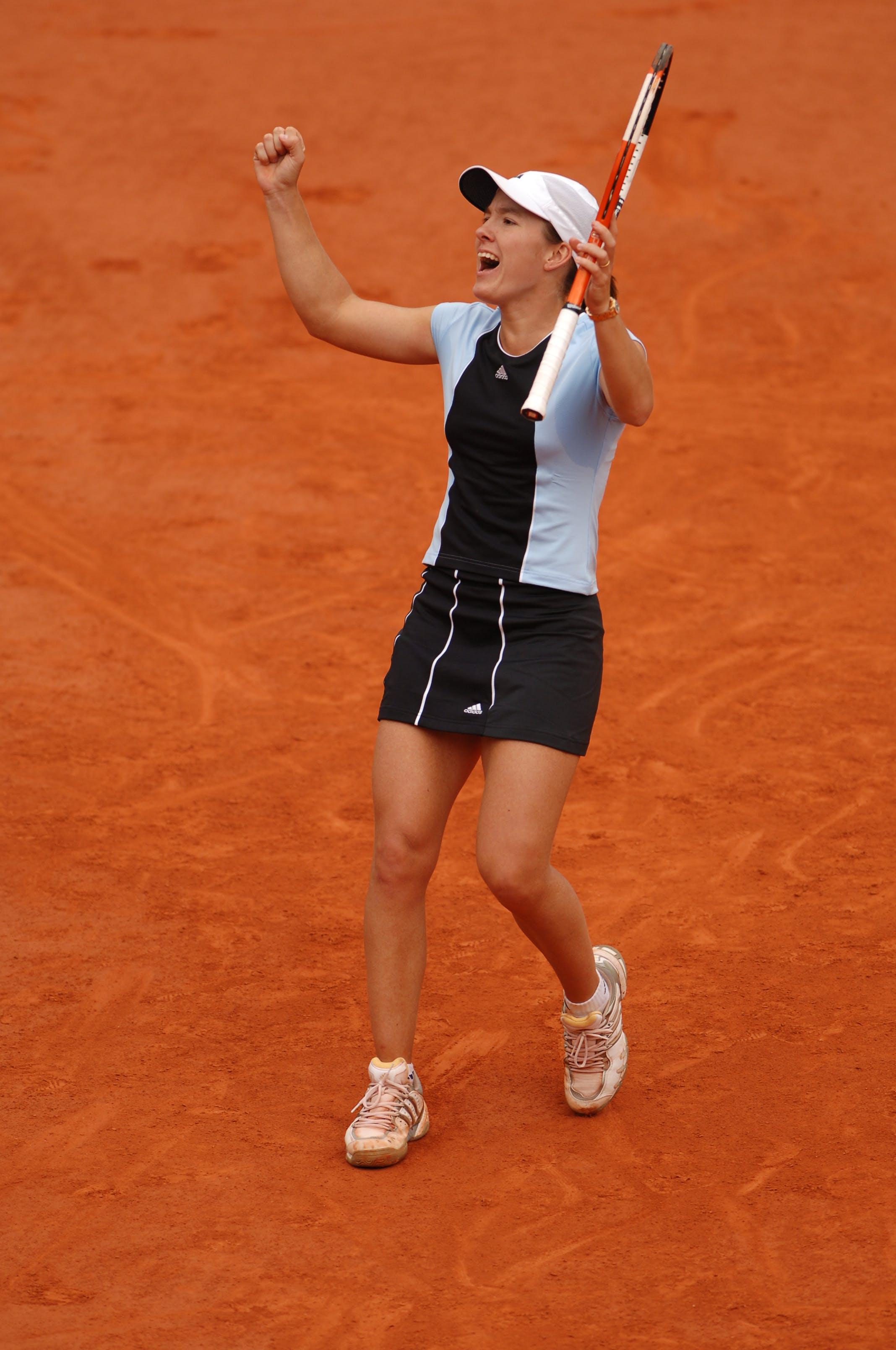 Justine Henin during Roland-Garros 2005