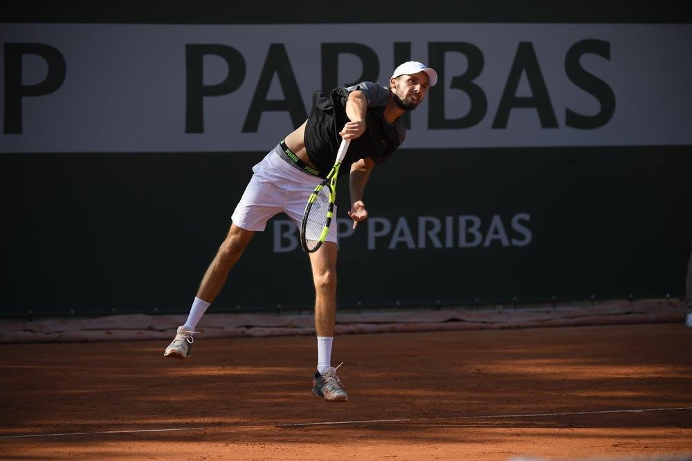 Oscar Otte, Roland Garros 2020, qualifying first round.