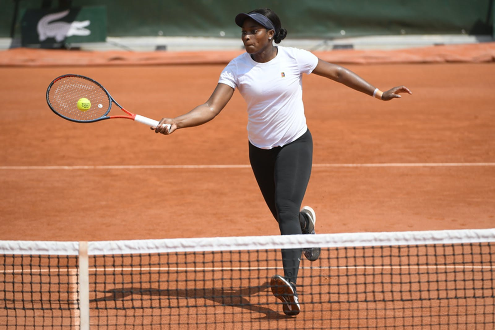 Sloane Stephens at Roland-Garros practice
