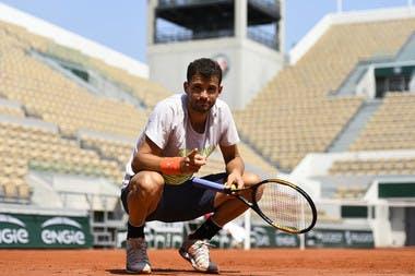 Grigor Dimitrov entraînement / practice Suzanne-Lenglen Roland-Garros 2018