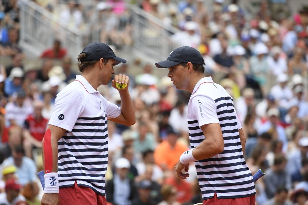 Bob and Mike Bryan at Roland-Garros